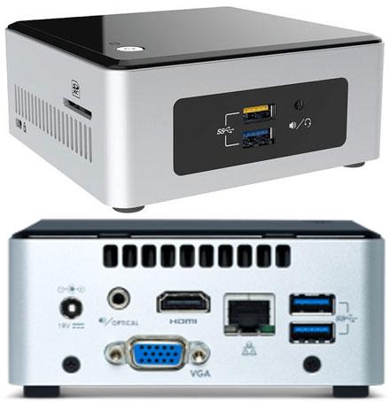 """Barebone Intel NUC5CPYH (Intel Celeron N3050 2x 2.16Ghz, 1x HDMI, 1x VGA, 2.5"""" HDD/SSD)"""