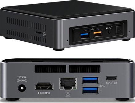 Barebone Intel NUC7I5BNK (Intel Core i5-7260U CPU 2x 2.2Ghz, 1x HDMI, 1x dP, 1x M.2)