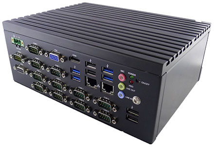 Barebone Jetway HM-2010 (Intel Apollo Lake, 12x COM, 4GB RAM)
