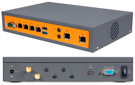 Barebone JBC130F533W4‐19G (Intel Bay Trail, 4GB RAM, 4x LAN, WLAN)