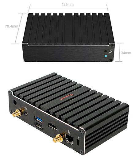 Barebone Jetway JBC400P93W-2930 Pico-ITX (Intel Bay Trail-M)