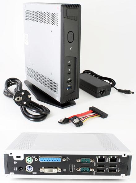 Barebone Mitac Pluto E220 (Intel Bay Trail J1900, 2x LAN Gigabit, DVI / HDMI, 2x RS232, Fanless)